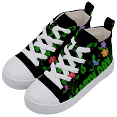 Earth Day Kid s Mid Top Canvas Sneakers by Valentinaart