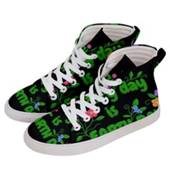 Earth Day Men s Hi Top Skate Sneakers by Valentinaart