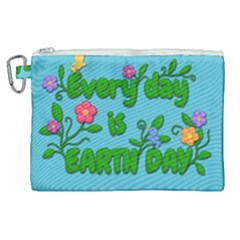 Earth Day Canvas Cosmetic Bag (xl) by Valentinaart