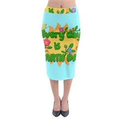 Earth Day Midi Pencil Skirt by Valentinaart