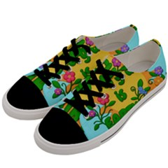 Earth Day Men s Low Top Canvas Sneakers by Valentinaart