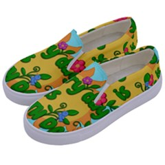 Earth Day Kids  Canvas Slip Ons by Valentinaart