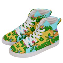 Earth Day Women s Hi Top Skate Sneakers by Valentinaart