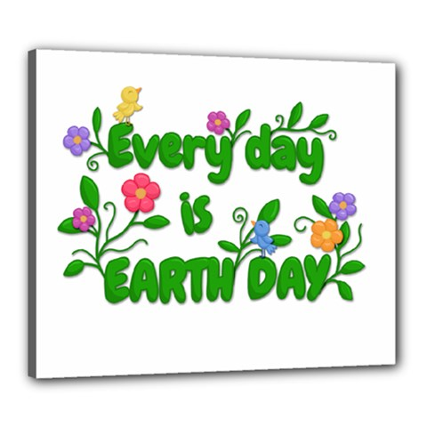 Earth Day Canvas 24  X 20  by Valentinaart