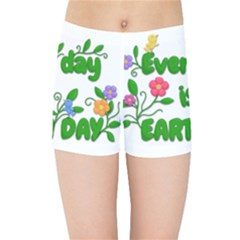 Earth Day Kids Sports Shorts