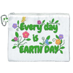 Earth Day Canvas Cosmetic Bag (xxl) by Valentinaart