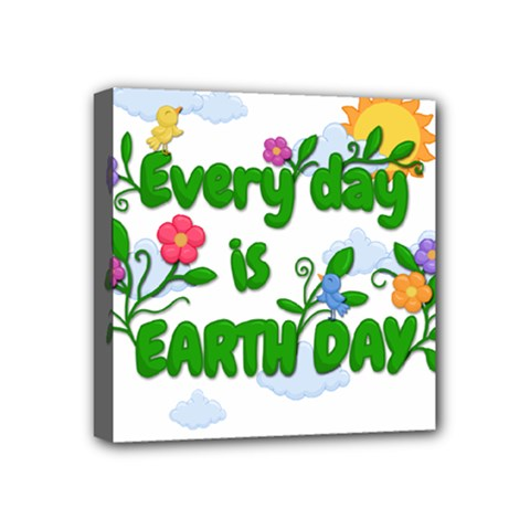 Earth Day Mini Canvas 4  X 4  by Valentinaart