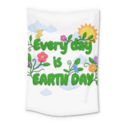 Earth Day Small Tapestry by Valentinaart