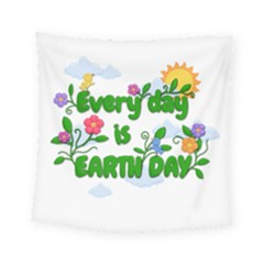 Earth Day Square Tapestry (small) by Valentinaart