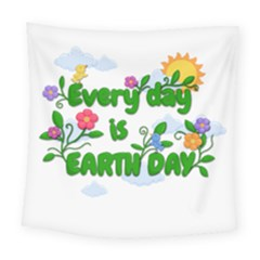Earth Day Square Tapestry (large) by Valentinaart