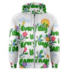 Earth Day Men s Zipper Hoodie by Valentinaart
