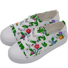 Earth Day Kids  Low Top Canvas Sneakers by Valentinaart