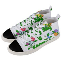 Earth Day Men s Mid Top Canvas Sneakers by Valentinaart