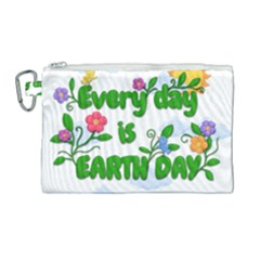 Earth Day Canvas Cosmetic Bag (large) by Valentinaart