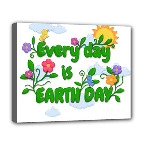 Earth Day Deluxe Canvas 20  X 16   by Valentinaart