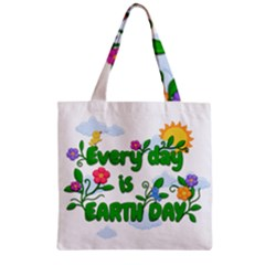 Earth Day Zipper Grocery Tote Bag by Valentinaart