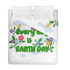 Earth Day Duvet Cover Double Side (full/ Double Size) by Valentinaart