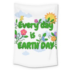 Earth Day Large Tapestry by Valentinaart