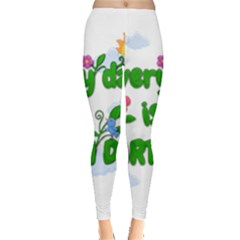 Earth Day Leggings  by Valentinaart