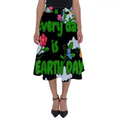 Earth Day Perfect Length Midi Skirt by Valentinaart
