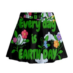 Earth Day Mini Flare Skirt by Valentinaart