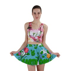 Earth Day Mini Skirt by Valentinaart