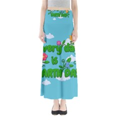 Earth Day Full Length Maxi Skirt by Valentinaart