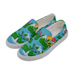 Earth Day Women s Canvas Slip Ons by Valentinaart