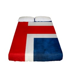 Iceland Flag Fitted Sheet (full/ Double Size) by Valentinaart