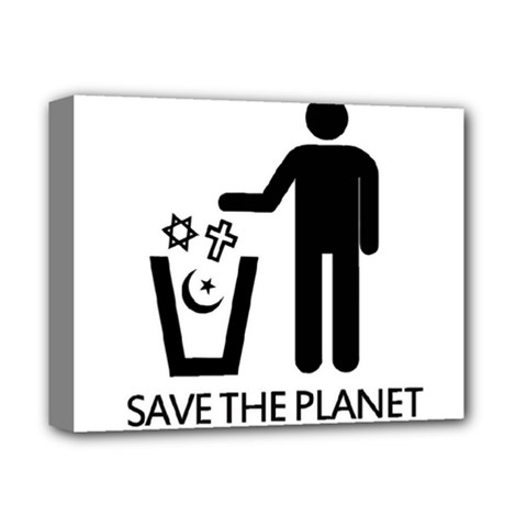 Save The Planet   Religions  Deluxe Canvas 14  X 11  by Valentinaart