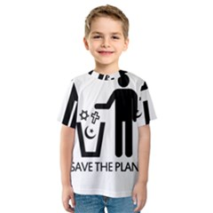 Save The Planet   Religions  Kids  Sport Mesh Tee