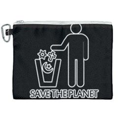 Save The Planet   Religions  Canvas Cosmetic Bag (xxl) by Valentinaart