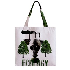 Ecology Zipper Grocery Tote Bag by Valentinaart
