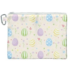 Easter Pattern Canvas Cosmetic Bag (xxl) by Valentinaart