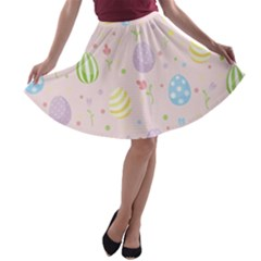 Easter Pattern A Line Skater Skirt by Valentinaart