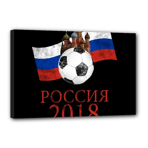 Russia Football World Cup Canvas 18  X 12  by Valentinaart