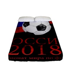 Russia Football World Cup Fitted Sheet (full/ Double Size) by Valentinaart
