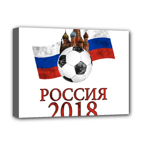 Russia Football World Cup Deluxe Canvas 16  X 12   by Valentinaart
