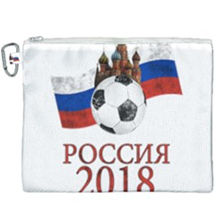 Russia Football World Cup Canvas Cosmetic Bag (xxxl) by Valentinaart