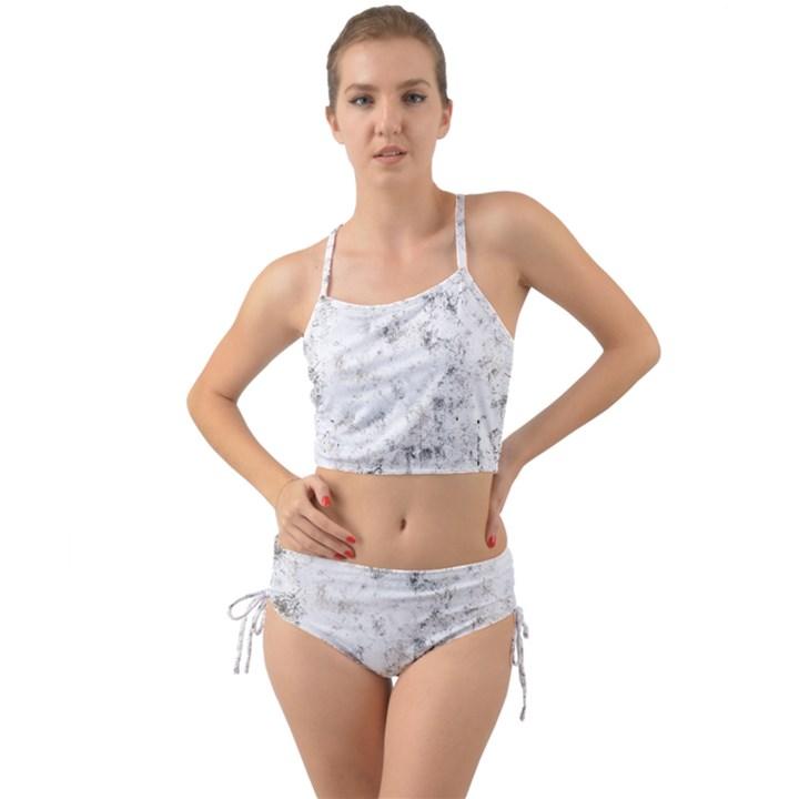 Grunge pattern Mini Tank Bikini Set