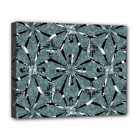 Modern Oriental Ornate Pattern Deluxe Canvas 20  X 16