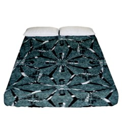 Modern Oriental Ornate Pattern Fitted Sheet (california King Size) by dflcprints