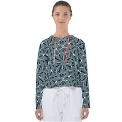 Modern Oriental Ornate Pattern Women s Slouchy Sweat