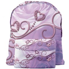 Wonderful Soft Violet Roses With Hearts Giant Full Print Backpack by FantasyWorld7