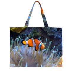 Clownfish 2 Zipper Large Tote Bag by trendistuff