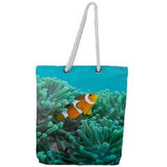 Clownfish 3 Full Print Rope Handle Tote (large) by trendistuff