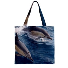 Dolphin 4 Zipper Grocery Tote Bag by trendistuff