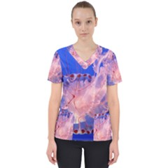 Purple Jellyfish Scrub Top