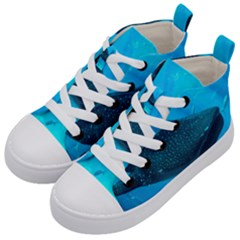 Whale Shark 2 Kid s Mid Top Canvas Sneakers by trendistuff