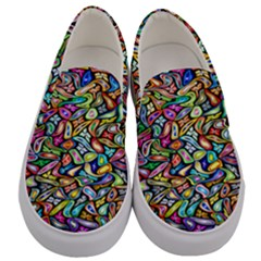 Artwork By Patrick Colorful 6 Men s Canvas Slip Ons